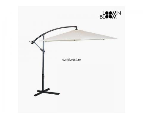 Umbrelă de soare Ø 300 cm Bej by Loom In Bloom