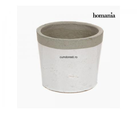 Plantator alb / gri ceramic by Homania
