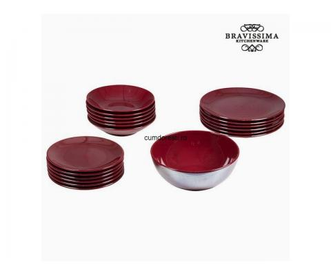Veselă (19 pcs) Faianță Bordo - Kitchen's Deco Colectare by Bravissima Kitchen