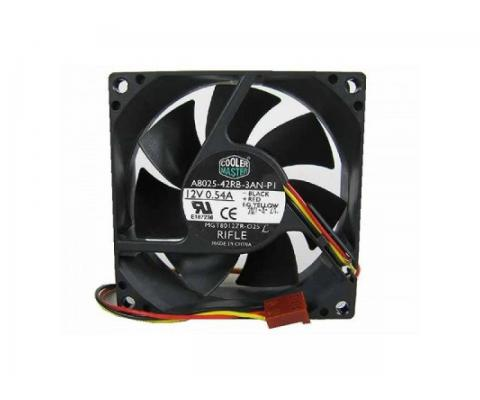 Ventilator Carcasa Cooler Master 12V, 80mm, mufa 3 pin, 2500RPM, negru ACT-63031