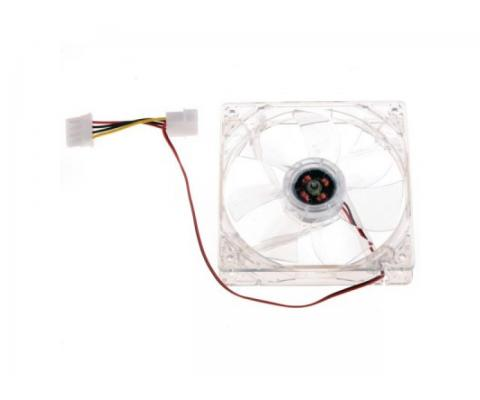 Ventilator Carcasa / Sursa WD 12V, 120mm, 2 fire, mufa 4 pin, 1200RPM, silent, iluminat, transparent