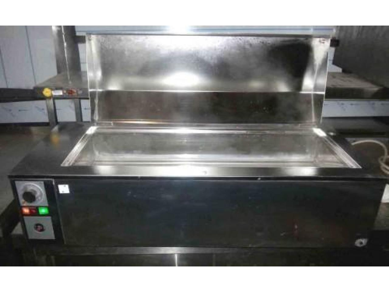 Bain Marie inox electric de banc second