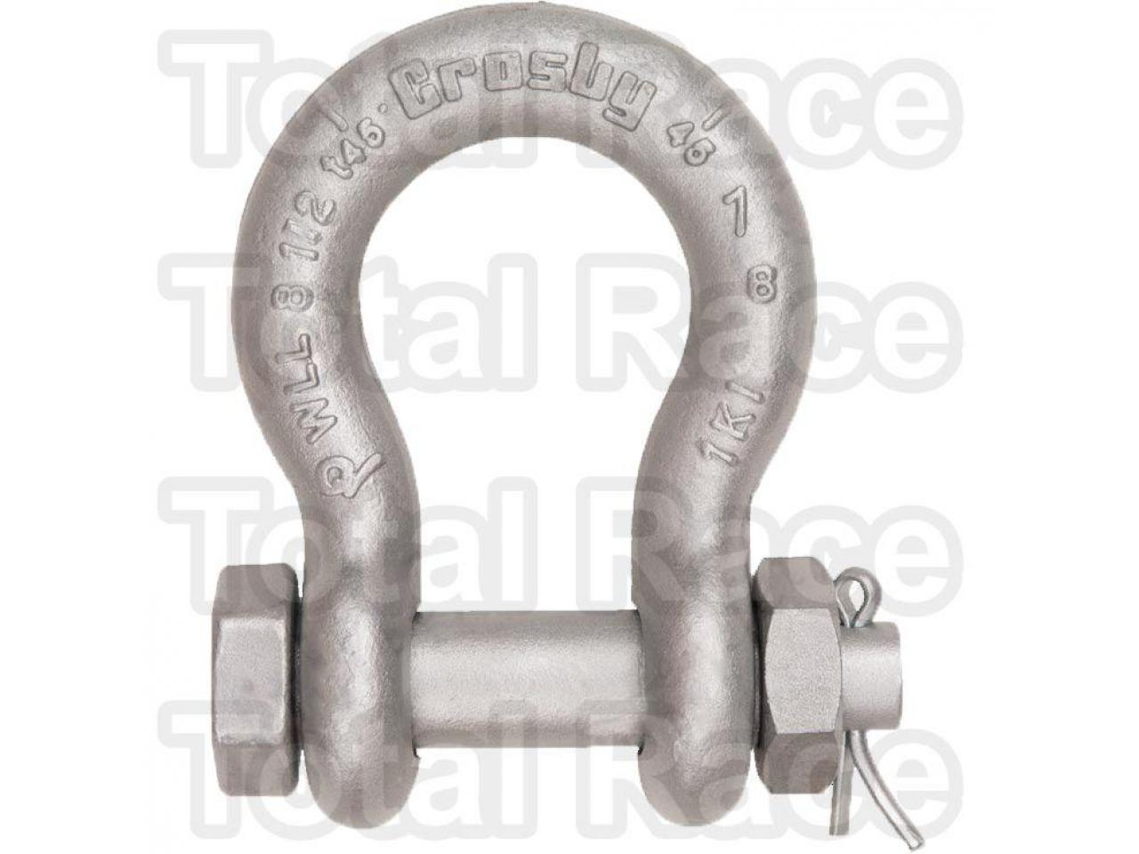 Shackles omega cu bolt, piulita si stift
