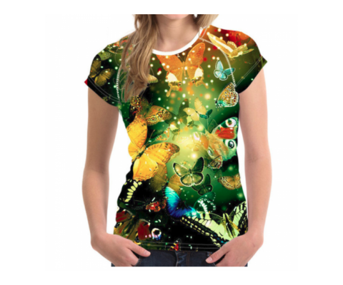Tricou 3D Femei Butterflies Everywhere - S, L